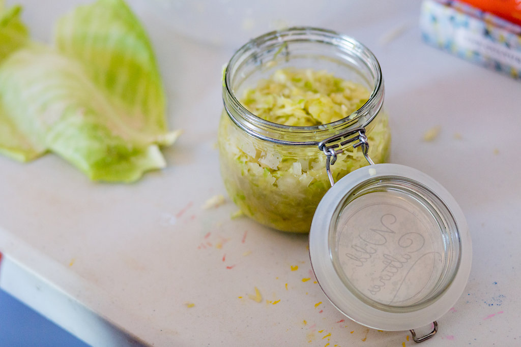 Sauerkraut, fermented food, probiotic, gut health
